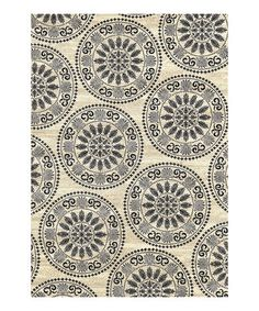 Loving this Ivory Medallion Rug on #zulily! #zulilyfinds