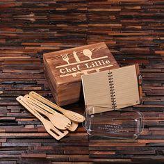 Personalised Kitchenware Gift Set – Utensils, Recipe Journal and 1L Baking Dish