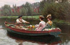 """""""Market Day"""" (1900) von Edmund Blair Leighton (geboren am 21. September 1853 in London, gestorben am 1. September 1922 in London), englischer Maler."""