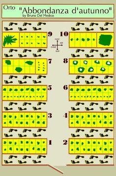 """Fare un orto di 25 metri quadrati in agosto o settembre. Progetto """"Abbondanza d'autunno"""" : Progetti di piccoli orti"""