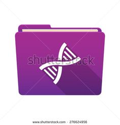 Isolated file folder icon with a DNA sign