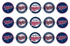 1 Minnesota Twins Baseball Bottle Cap Images by Dogwoodcorner