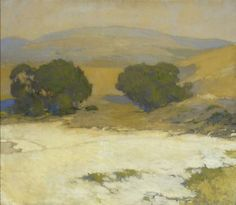 Arthur Mathews | Lucia Mathews. (1860-1945). Monterey Oaks painting. n.d.