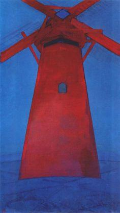 Piet Mondrian. Molen. Buskermolen....
