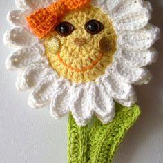 """Crochet 15"""" Daisy flower. My own design. No pattern. by Jerre Lollman"""