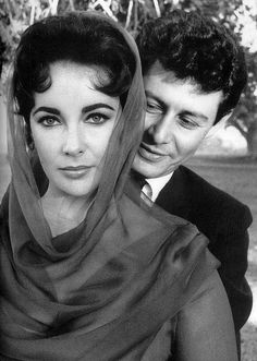 "summers-in-hollywood: "" Elizabeth Taylor & Eddie Fisher on their wedding day, May, "" Hollywood Glamour, Hollywood Stars, Classic Hollywood, Old Hollywood, Hollywood Icons, Edward Wilding, Eddie Fisher, Violet Eyes, Actrices Hollywood"