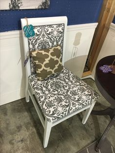 White Upholstered Chair - SOLD
