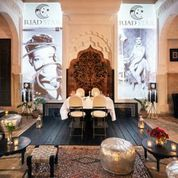Riad Star's courtyard bringing Josephine Baker back to life! www.marrakech-riad.co.uk