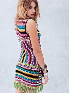 Connected In Crochet Fringe Dress. http://www.freepeople.com/whats-new/connected-in-crochet-fringe-dress-25906116/