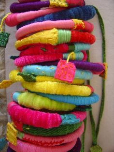 Anna Theoharaki - textile bracelets