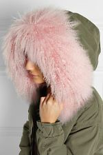 Mr & Mrs Furs M  Parka Fell Pelz Jacke Mantel rosa Canvas Shearling pink rose