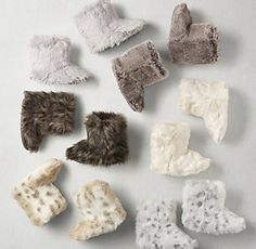 Luxe Faux Fur Booties Keep toes toasty warm with extra-cozy faux fur booties. Toddler Gifts, Kids Gifts, Gifts For Girls, Rh Baby, Baby Love, Luxury Nursery, Restoration Hardware Baby, Rug Sale, Baby Booties