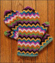 Knitterly Things Newsletter, Chevron Love Mitten Kit SALE!