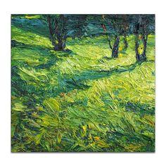 Landscape Painting  original impasto oil painting by AMINOVART