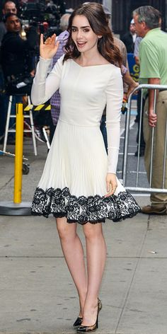 Lily Collins' Best Looks on The Mortal Instruments Press Tour - New York from #InStyle