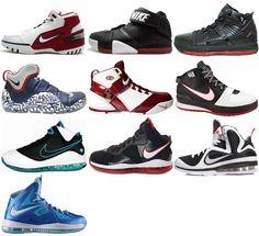 all lebron james shoes list