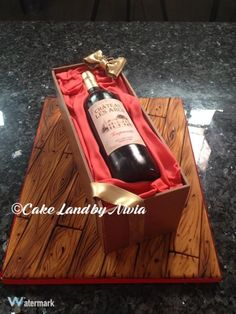 Wine bottle cake - Cake by Nivia
