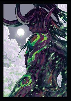 Illidan - World of Warcraft, an art print by Warcraft Heroes, Art Warcraft, Warcraft Funny, World Of Warcraft Characters, Fantasy Characters, Dark Fantasy, Fantasy Art, Final Fantasy, Illidan Stormrage