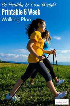 Get fit and healthy by walking more. Get this free printable 6-weeks walking plan