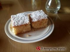 Coconut cake with syrup Recipe by Cookpad Greece Greek Sweets, Greek Desserts, Greek Recipes, Greek Cake, Greek Pastries, Middle Eastern Desserts, Greek Cooking, Moist Cakes, Recipe Images