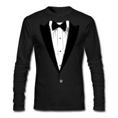 Custom Color Tuxedo Tshirt Long Sleeve Shirts