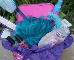 Beauty Easter Basket - This one brings out the girl in all of us. There is no candy included in this basket -- just tons of fun items for girls and teens.  Including: nail polish, bath accessories, hair brushes and styling products, makeup mirrors and more. To top it off, instead of a basket, use a cute cosmetic case.  Tags: Easter Basket for Girls | Makeup Easter Basket
