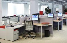 iBeacons im Büro: Ein neues System von Knoll unterstützt Unternehmen bei der Gestaltung von Arbeitsflächen mit Hilfe der Mobilgeräte ihrer Mitarbeiter.
