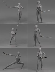Katana and Poses for Genesis 8 Female(s) Body Reference Poses, Pose Reference Photo, Figure Drawing Reference, Hand Reference, Anatomy Reference, Art Poses, Drawing Poses, Drawing Tips, Samurai Poses