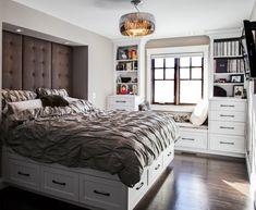 """164 curtidas, 2 comentários - OrganizAÇÃO (@organizacao.acao) no Instagram: """"Bom dia! Adicionando na minha #wishlist esta cama cheia de gavetas!💙 . . . #organização #organiza…"""" Decor, Furniture, House, Home Decor, Bed"""