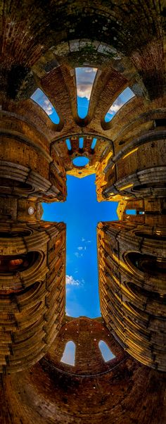 The Cross - San Galano Abbey, Tuscany | Igor Menaker Photography I've put as many as I could on our list for this time but plenty more to explore some other time  Italy  Para obtener información, acceda a nuestro sitio   http://storelatina.com/italy/travelling  #receitasitalia #foodItaly #Italyrecipes #traveling