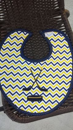 Hockey bibNavy and Gold by rockinghorsedesigns on Etsy, $12.00