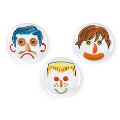 """Fred & Friends Dinner Do's Boy Hairstyle 9"""" Dinner Plate (Set of 3)"""