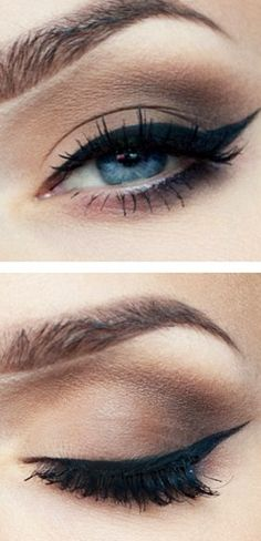 Make-up for blue eyes: Eyeliner #beauty #makeup