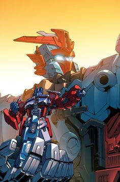 Optimus Prime and Victorion