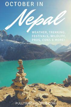 Nepal in October: Weather, Festivals, Trekking & More ⋆ Full Time Explorer Honeymoon Destinations All Inclusive, Romantic Vacations, Romantic Travel, Travel Destinations, Explore Travel, Philippines Travel, Italy Vacation, Nepal, Trekking