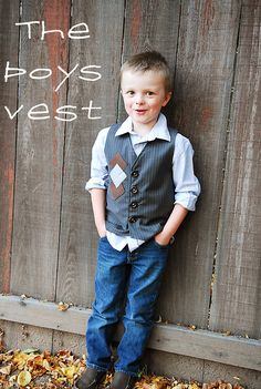"""Shwin: """"Vest"""" of friends (the boy vest). This is exactly what I did for JJ's vest, but I had no tutorial, this would have prevented some seam ripping! :)"""