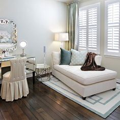 Diy plantation shutters the two tvs and chairs for Chaise and lounge aliso viejo
