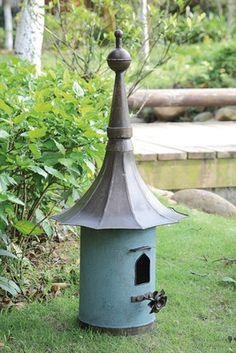 Creative Co Op Secret Garden Freestanding Bird House