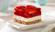 ating smart? You'll like this one. Fluffy, creamy strawberry squares with a crushed pretzel crust keep things interesting. Ingredients : 1-1/2 cups finely crushed pretzels 1/2 cup sugar, divided 1/2 cup (1 stick) margarine, melted 1-1/2 pkg. (8 oz. each) Neufchatel Cheese (12 oz.), softened 2 Tbsp…