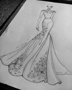 Fashion Drawing Tutorial, Fashion Illustration Tutorial, Fashion Figure Drawing, Fashion Drawing Dresses, Fashion Illustration Dresses, Drawing Fashion, Fashion Design Sketchbook, Fashion Design Portfolio, Fashion Design Drawings