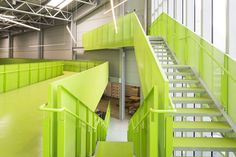 pedrali has opened 'fili d'erba', an automated warehouse in northern italy designed by architect cino zucchi. Architecture Magazines, School Architecture, Modern Architecture, Interior And Exterior, Interior Design, Green Furniture, Space Interiors, Stairway To Heaven, Staircase Design