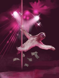 Stripper+Sloth+Slothzilla+3+Pack+Birthday+Card+by+sharpshirter,+$12.00