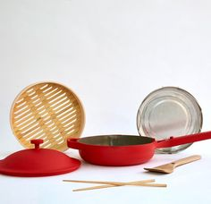 Abilities 万能 Always Pan – Our Place Red Pan, Frozen Dumplings, Ceramic Non Stick, Year Of The Rat, Lunar New, What To Cook, This Or That Questions, Kitchen, Personal Shopping
