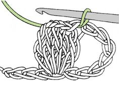 popcornsteek Diy Crochet, Crochet Baby, Crochet Stitches, Crochet Patterns, Bobble Stitch, Crochet Instructions, Country Christmas, Knitted Bags, Beautiful Crochet