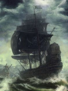 .Reminds me of The Black Pearl from the Pirates of the Caribbean movies