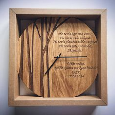 Modern Wall Clock / Custom Wedding or Anniversary Clock /