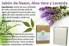 Jabon de Neem, Aloe Vera y Lavanda
