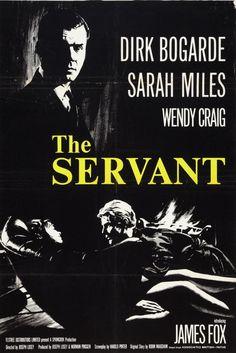 """El Sirviente"" (""The Servant"", 1963). Dir. Joseph Losey. Stars: Dirk Bogarde, Sarah Miles, Wendy Craig, James Fox."