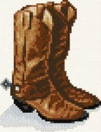 Cowboy Boots cross stitch pattern.