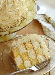 Rose Covered Checkerboard Cake - i am baker Cake Mix Recipes, Dessert Recipes, Desserts, Fondant Cakes, Cupcake Cakes, Cupcakes, Cheesecakes, Checkered Cake, Checkerboard Cake
